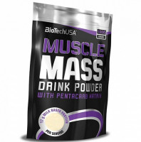 Гейнер BioTechUSA Muscle Mass, ваниль, 1000 г