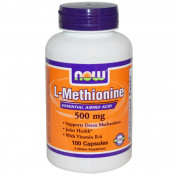 Аминокислоты NOW L-Methionine 500 mg 100 капс.